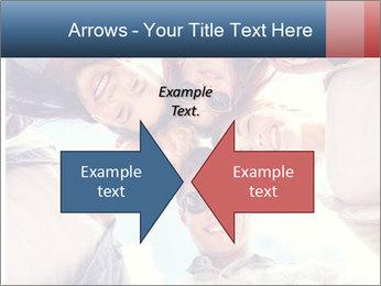 Happy friends, posing for a selfie. PowerPoint Template - Slide 90