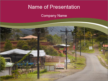 Rural Area PowerPoint Template - Slide 1