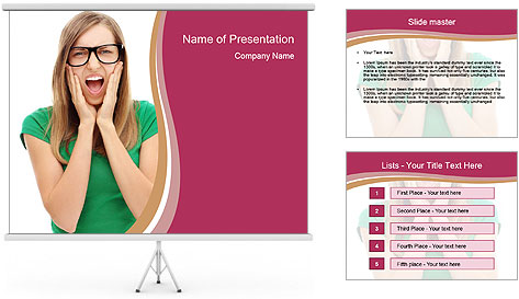 Woman In Panic PowerPoint Template