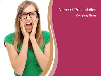 Woman In Panic PowerPoint Template - Slide 1