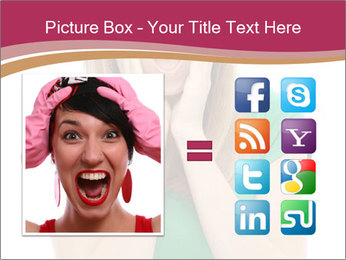 Woman In Panic PowerPoint Template - Slide 21