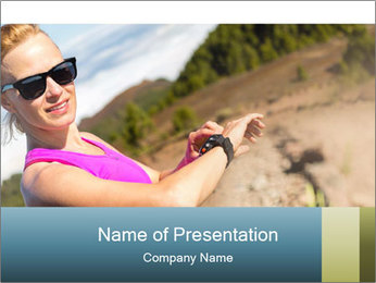 Woman Hiker PowerPoint Template - Slide 1