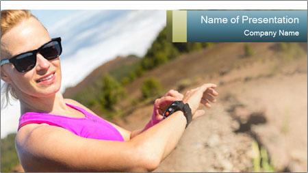 Woman Hiker PowerPoint Template