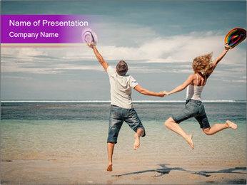 Joyful Couple On Vacation PowerPoint Templates - Slide 1