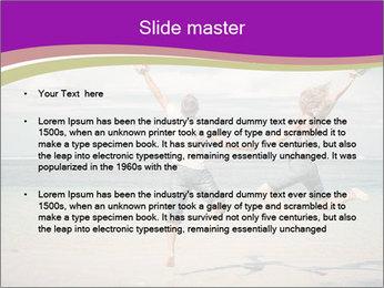 Joyful Couple On Vacation PowerPoint Templates - Slide 2