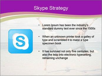 Joyful Couple On Vacation PowerPoint Templates - Slide 8