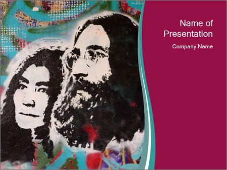John Lenon And Yoko PowerPoint Templates