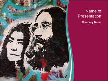 John Lenon And Yoko PowerPoint Template - Slide 1