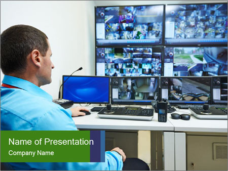 Security Screens PowerPoint Template