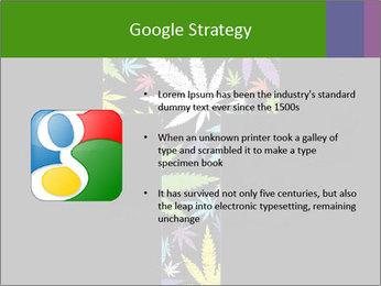 Cross of marijuana on the black background PowerPoint Template - Slide 10