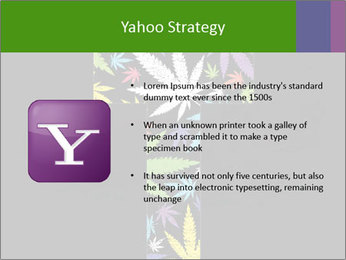 Cross of marijuana on the black background PowerPoint Template - Slide 11