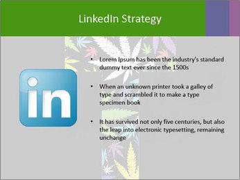 Cross of marijuana on the black background PowerPoint Template - Slide 12