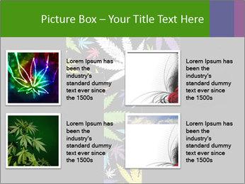 Cross of marijuana on the black background PowerPoint Template - Slide 14