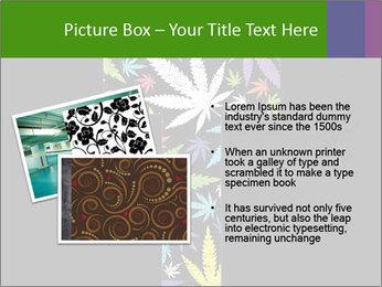 Cross of marijuana on the black background PowerPoint Template - Slide 20