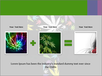 Cross of marijuana on the black background PowerPoint Template - Slide 22