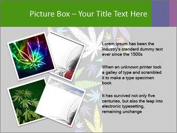 Cross of marijuana on the black background PowerPoint Template - Slide 23