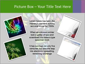 Cross of marijuana on the black background PowerPoint Template - Slide 24