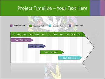 Cross of marijuana on the black background PowerPoint Template - Slide 25