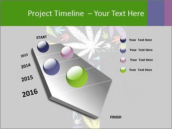 Cross of marijuana on the black background PowerPoint Template - Slide 26
