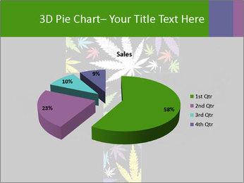 Cross of marijuana on the black background PowerPoint Template - Slide 35