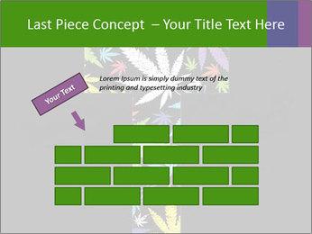 Cross of marijuana on the black background PowerPoint Template - Slide 46