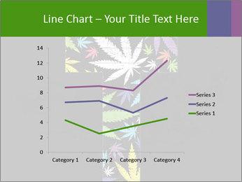 Cross of marijuana on the black background PowerPoint Template - Slide 54