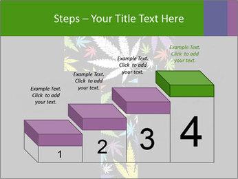 Cross of marijuana on the black background PowerPoint Template - Slide 64
