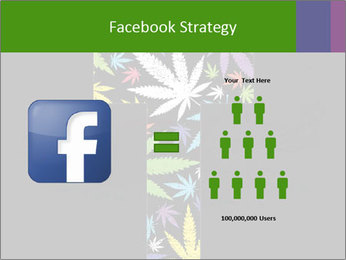 Cross of marijuana on the black background PowerPoint Template - Slide 7