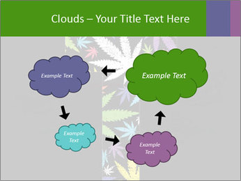 Cross of marijuana on the black background PowerPoint Template - Slide 72