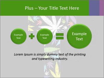 Cross of marijuana on the black background PowerPoint Template - Slide 75