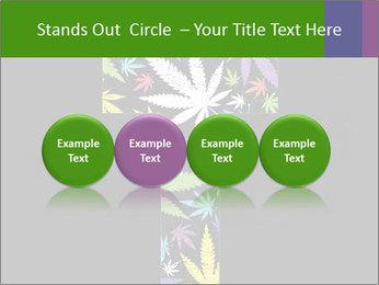 Cross of marijuana on the black background PowerPoint Template - Slide 76