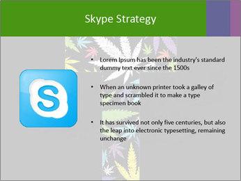 Cross of marijuana on the black background PowerPoint Template - Slide 8