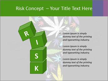 Cross of marijuana on the black background PowerPoint Template - Slide 81