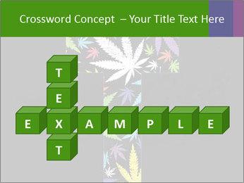 Cross of marijuana on the black background PowerPoint Template - Slide 82