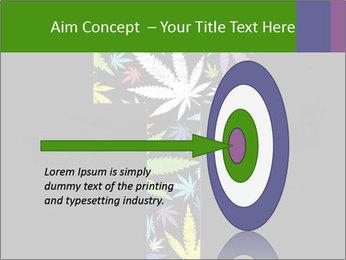 Cross of marijuana on the black background PowerPoint Template - Slide 83