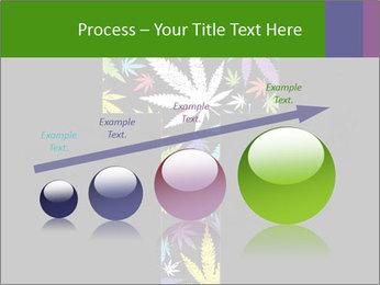 Cross of marijuana on the black background PowerPoint Template - Slide 87