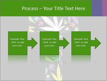 Cross of marijuana on the black background PowerPoint Template - Slide 88