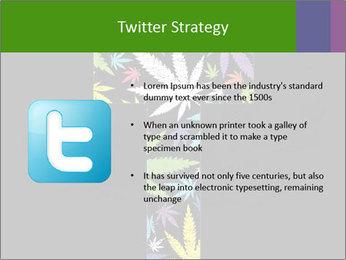 Cross of marijuana on the black background PowerPoint Template - Slide 9