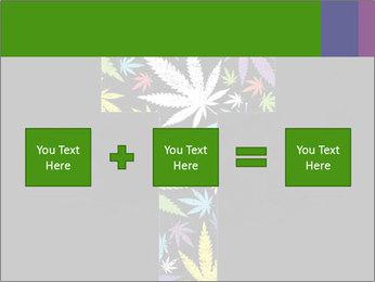 Cross of marijuana on the black background PowerPoint Template - Slide 95