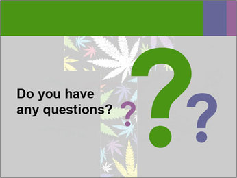 Cross of marijuana on the black background PowerPoint Template - Slide 96