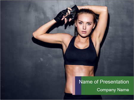 Sporty Female Outfit PowerPoint Template