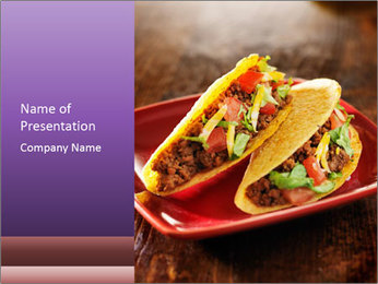 Ethnic Mexican Food PowerPoint Templates - Slide 1
