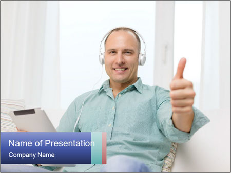 Happy Family Man PowerPoint Template