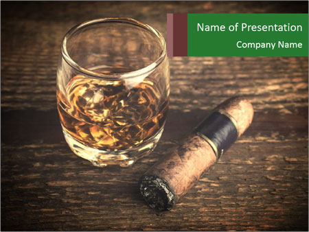 Unfinished Cigar PowerPoint Templates