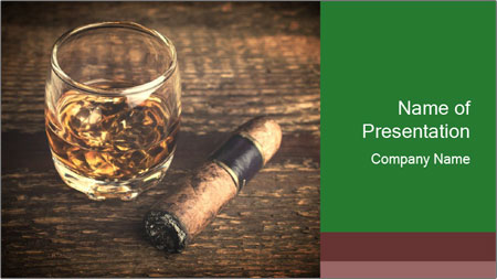 Unfinished Cigar PowerPoint Template