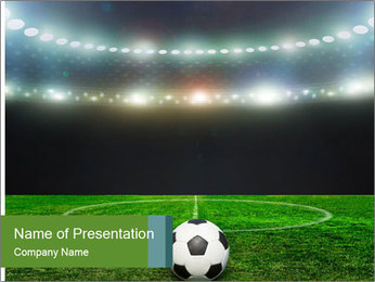 Stadium Lights PowerPoint Template - Slide 1