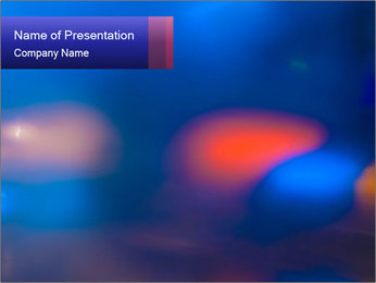 Red And Blue Lights PowerPoint Template - Slide 1