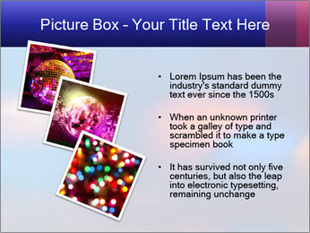 Red And Blue Lights PowerPoint Template - Slide 17