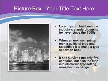 Man Enjoys Sunset PowerPoint Template - Slide 13