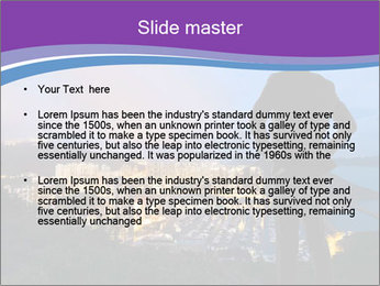 Man Enjoys Sunset PowerPoint Template - Slide 2